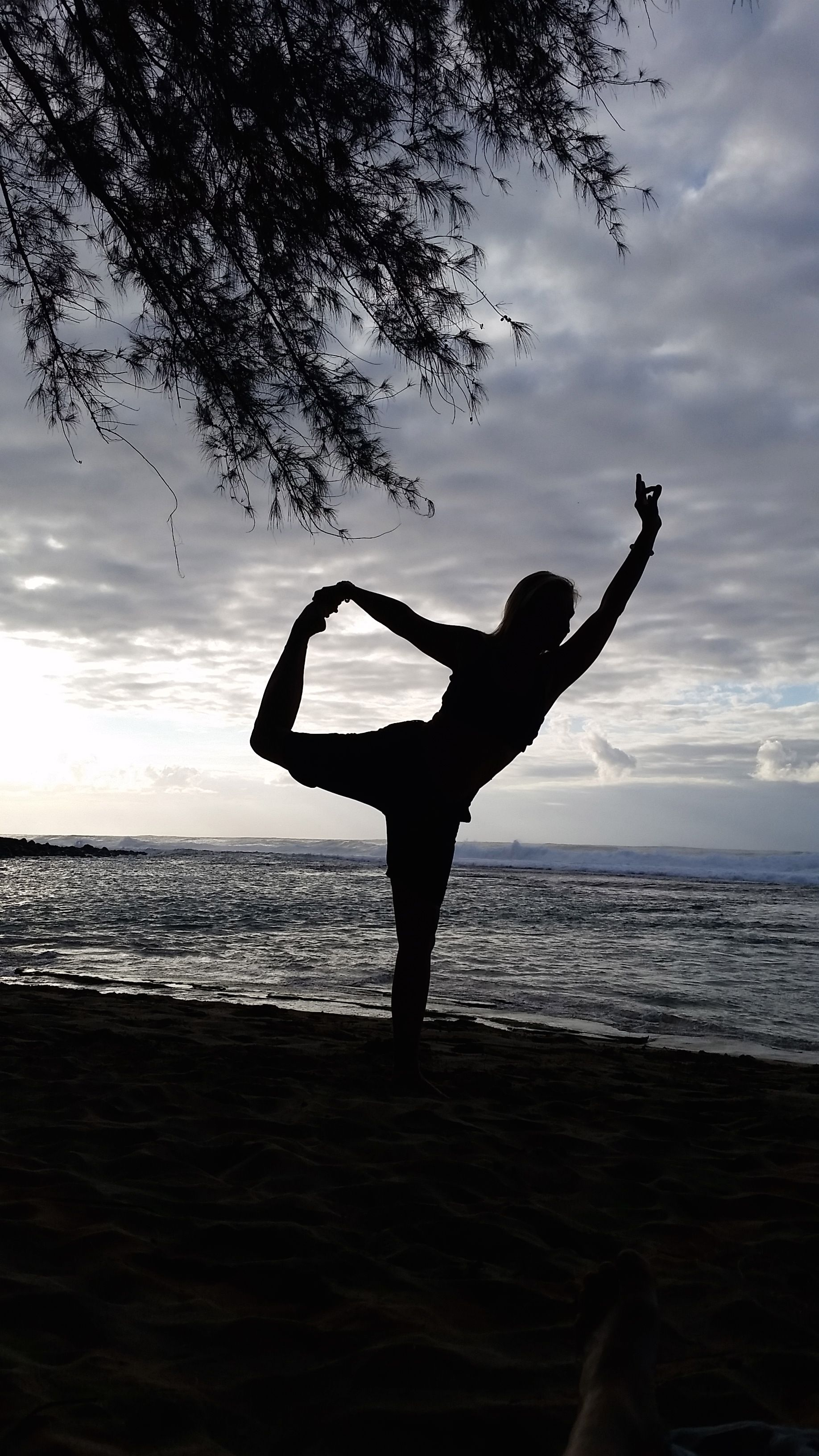 Dancing Yoga At Ke E Beach On Majestic Island Kauai Hawaii