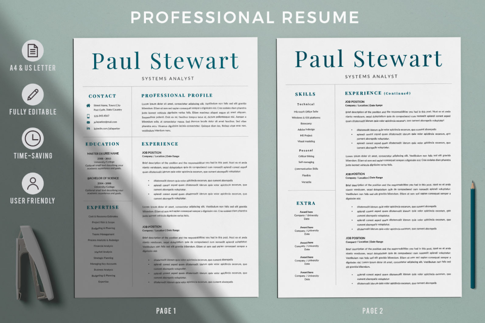 2 1820x1214 Cover Letter For Resume Professional Resume Downloadable Resume Template