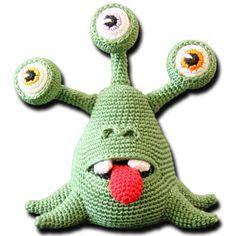 Eddi, der Außerirdische häckeln.....auf der Seite gibt es die kostenlose Anleitung