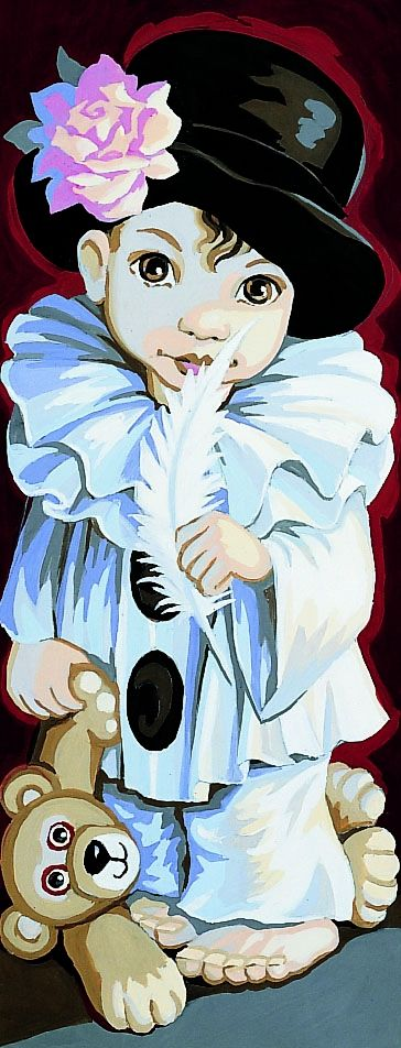Royal Paris Tapestry - Pierrot de Pio - Royal Paris Tapestry Canvases Portraits/Classics Tapestry Kits - Atlascraft