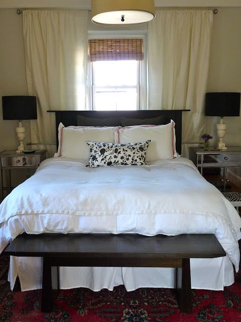 How To Hang Curtains Behind Bed With A Window Frame A Window