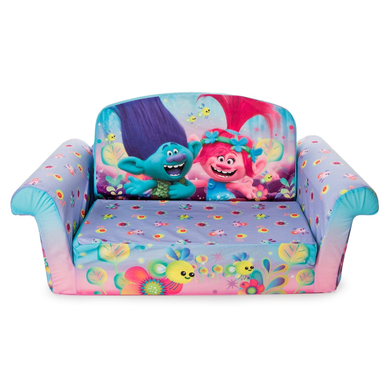 Dreamworks Trolls Flip Open Sofa Foam Sofa Kids Sofa Kids Couch