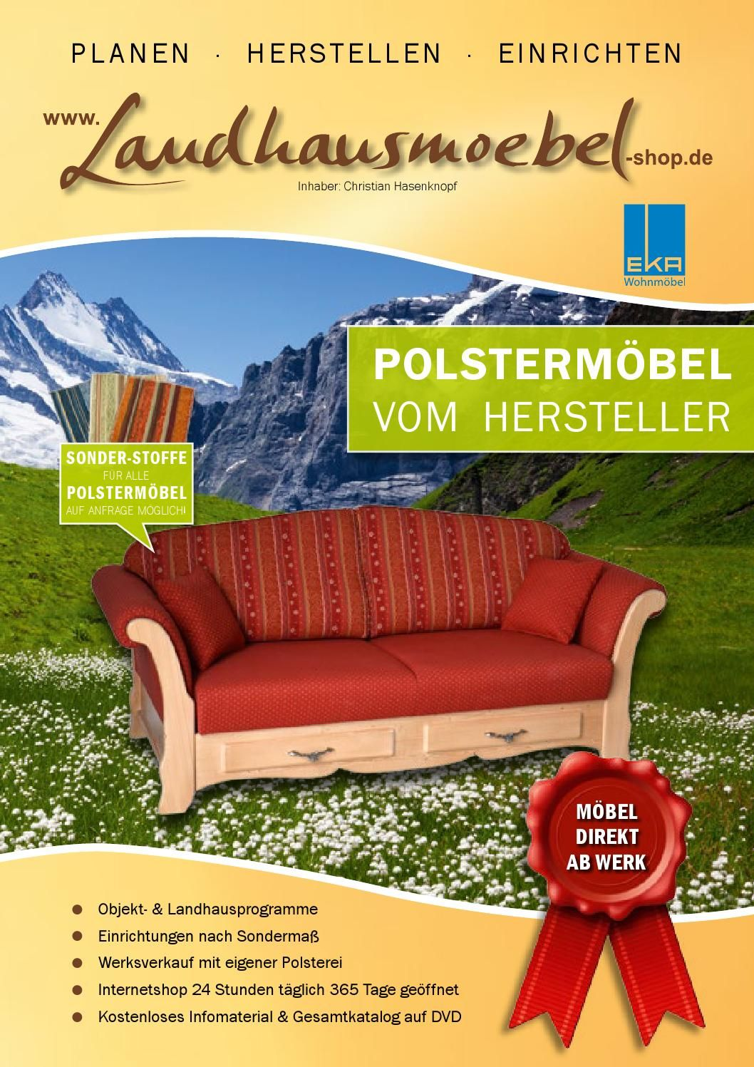 2.1 Landhausmoebel-shop.de Landhauspolstermöbel | Tv sessel ...