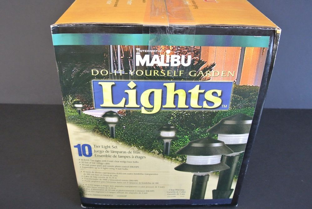 Malibu DO IT YOURSELF GARDEN Lights Kit 10 Tier Light Set NEW PLEASE READ