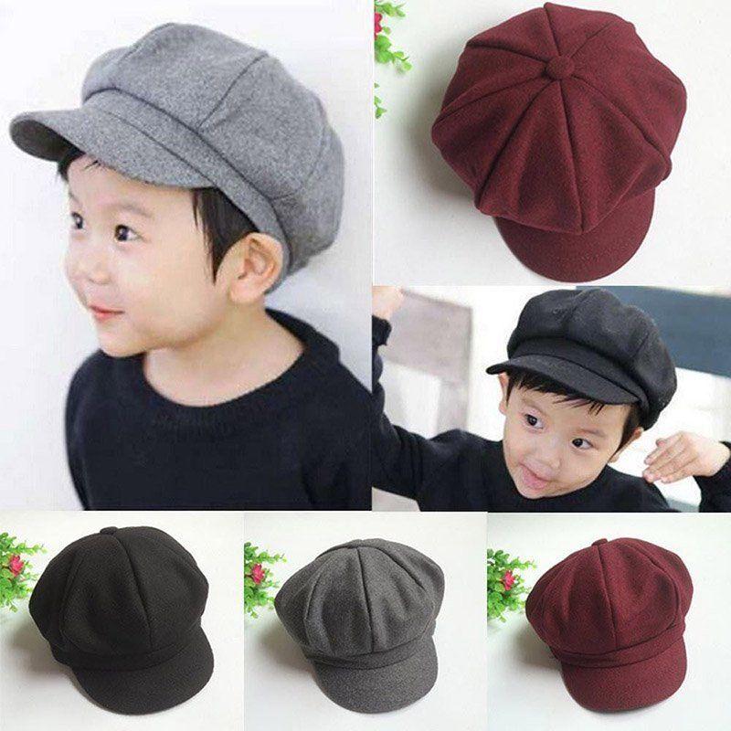 Facaily Kids Cotton Hats Cute Cartoon Bear Boys Girls Baby Kids Children Adjustable Baseball Cap Sun Hat Cap Unisex