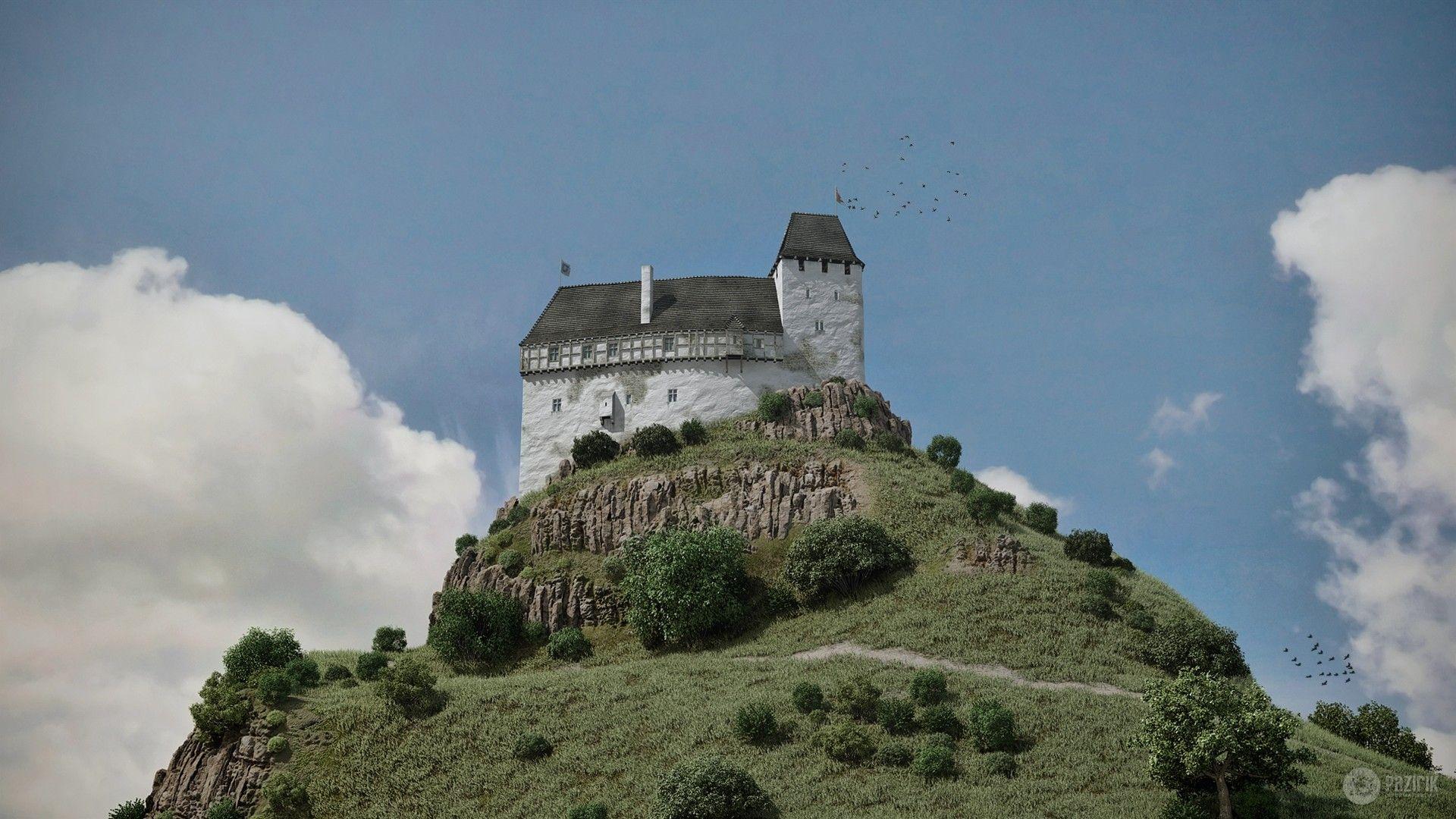 ArtStation - Salgó castle - 3D theoretical reconstruction, Pazirik