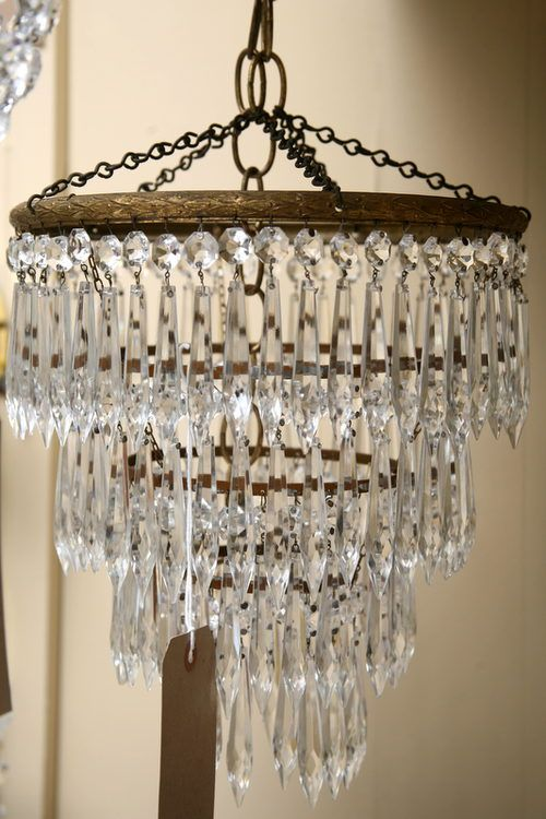 This Is A Pretty Standard Waterfall Chandelier Dating From The With Four Tiers Of Old Icicle Drops