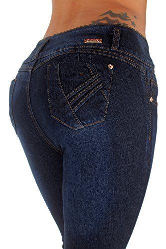 Butt Lifting Mid Waist Levanta Cola Plus Size Skinny Jeans