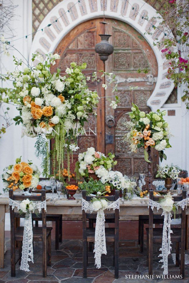 Orange And Lime Green Fresh And Summery Outdoor Setting Wedding