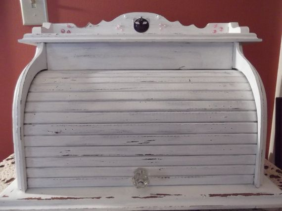 Cat In A Bread Box Ooak Doggie Cat Bed Vintage Bread Box Shabby Chic Bread Box