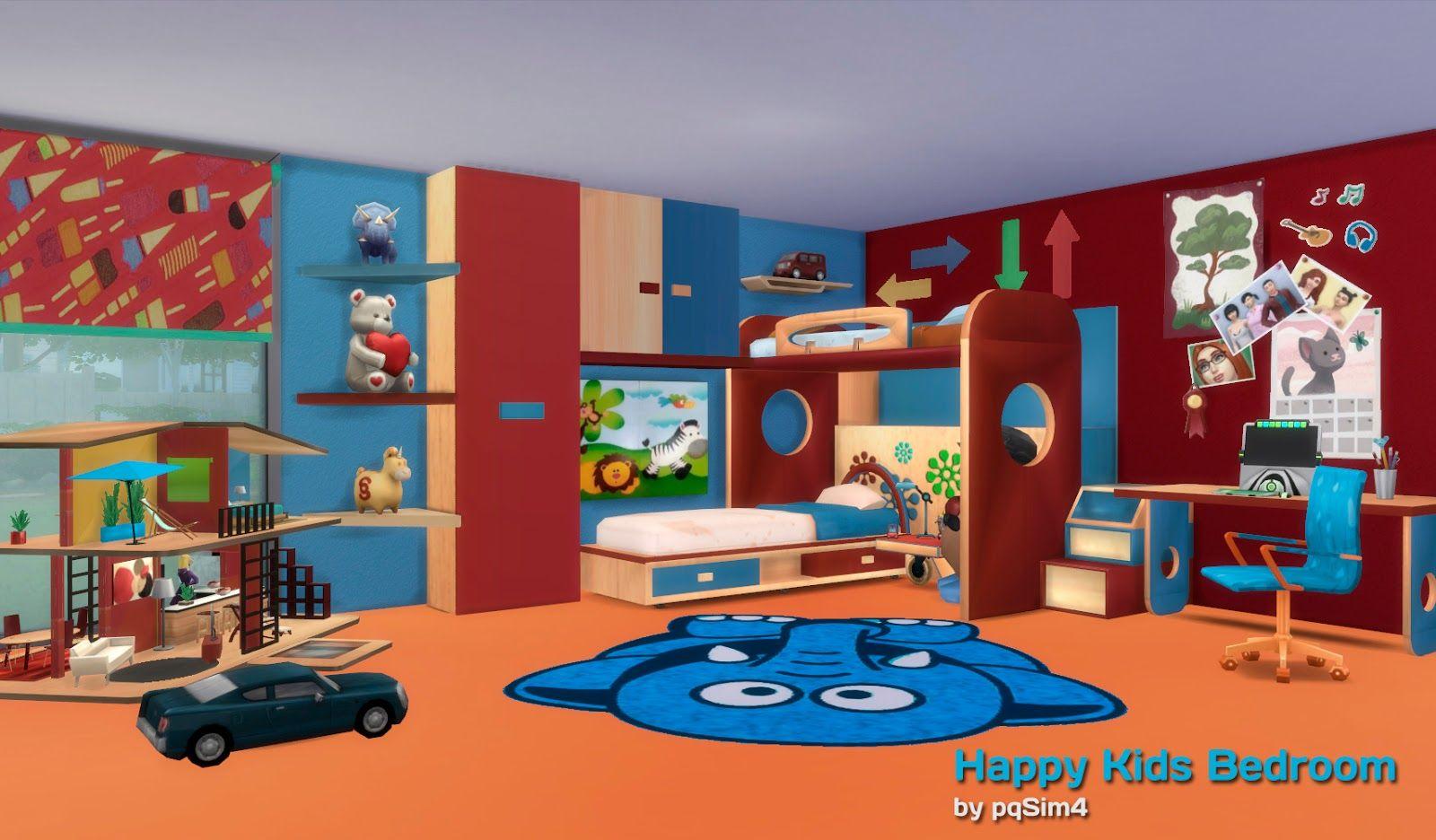 Sims Bedroom Sims 4 Dormitorio Happy Kids Pqsim4 Sims Pinterest Kid