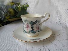 Royal Dover China Tea Cup and Saucer - Pink Roses With Gold Trim