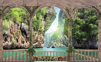Arches Beach Sea Photo Wallpaper Wall Mural Room Decor 1071pp