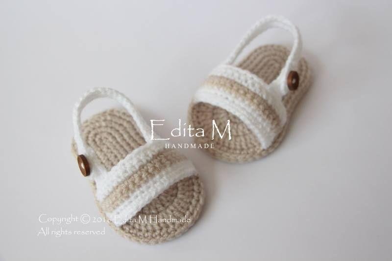 30 Tane Yazlık Bebek Sandalet Modeli   Hobilendik   Puf   Pinterest ...