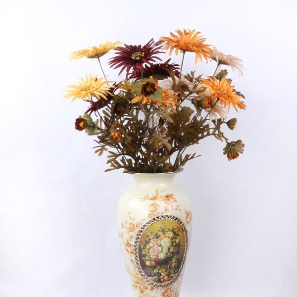 Silk autumn chrysanthemum artificial with optional multi color silk flowers wholesale silk autumn chrysanthemum artificial with optional multi color flower diameter off white yellow and black red it is a sweet and mightylinksfo