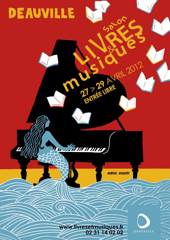 Joëlle Jolivet - Livres & Musiques  Deauville, Affiche de jazz et