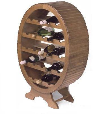 Botellero de madera con forma de valo ideal para la - Botellero de madera para vino ...