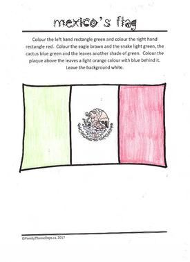 Mexico Learning Activities Mexican Flag Colouring Page Free