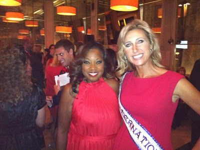 Mrs. International 2011 Janet Bolin & Starr Jones at NYC Go Red event!