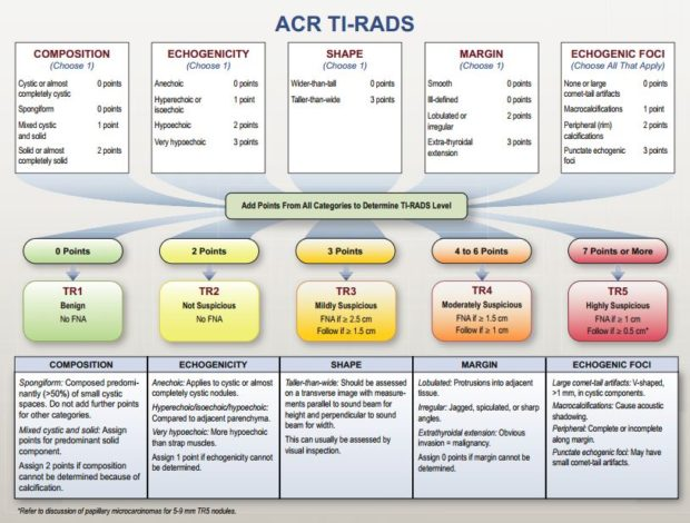 Neck Us Acr Ti Rads Thyroid Imaging Reporting And Data System