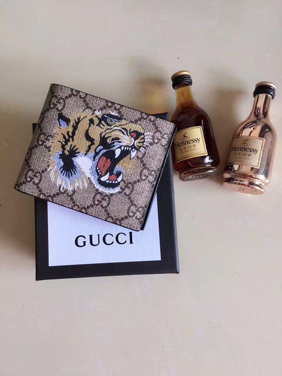 882669e187e5 Replica GUCCI Tiger print GG Supreme wallet 451268 | cloth | Tiger ...