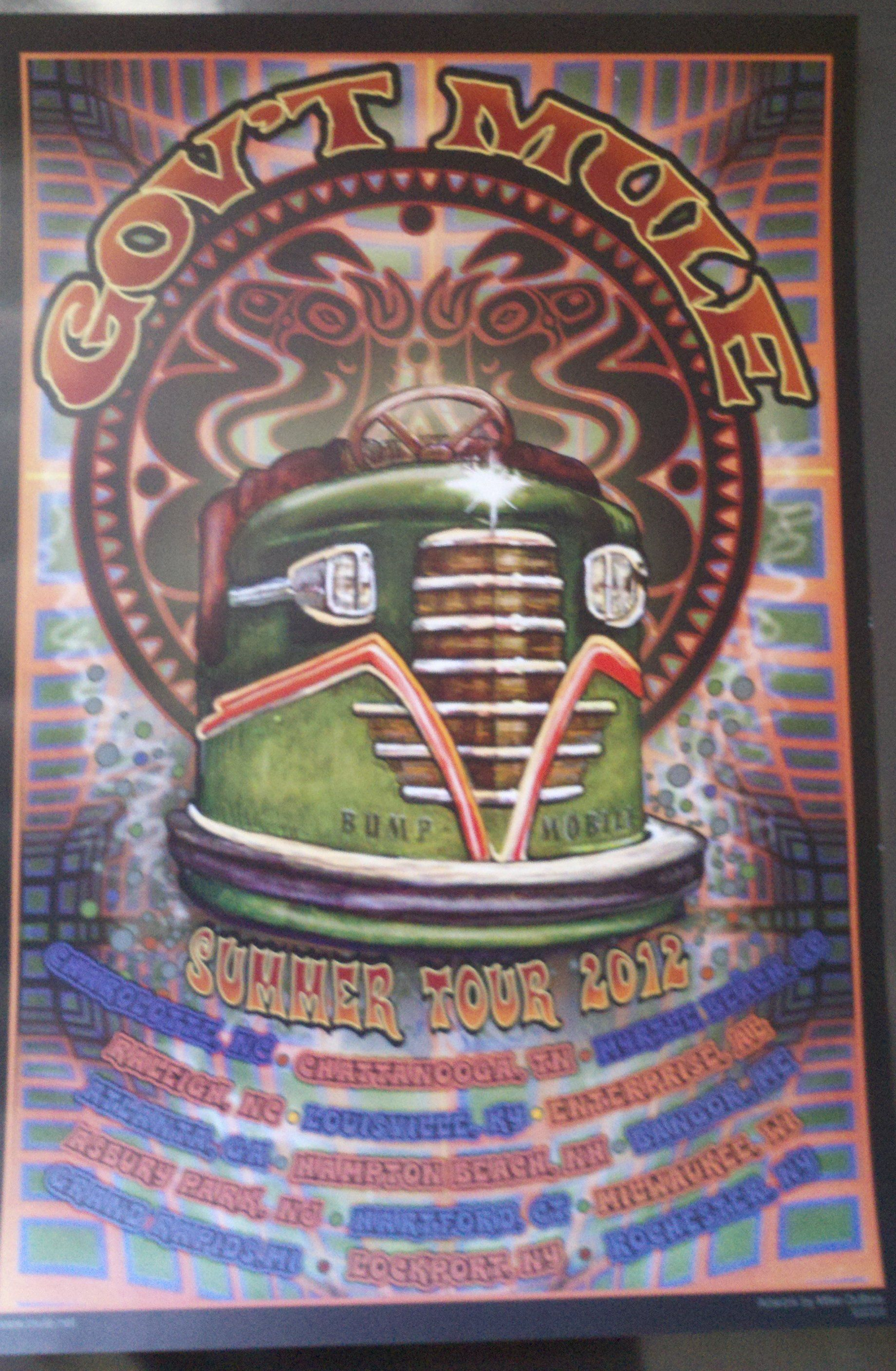 Gov't Mule's Summer 2012 NA tour poster.
