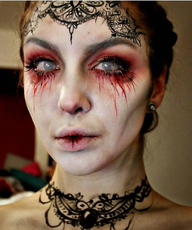 makeup done by ellie35x more - Where Can I Get Halloween Makeup Done