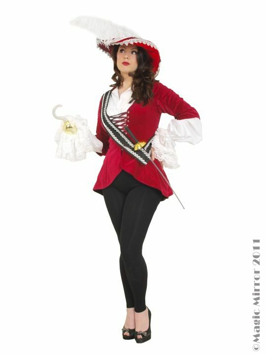 cae4f9a30 captain hook costume | Lady Captain Hook Fancy Dress Costume ...