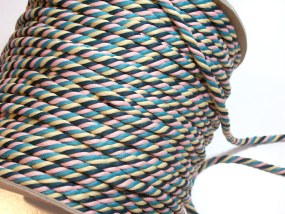 Multicolor Rope Cording Sewing Trim 3/8 inch by GriffithGardens, $1.25