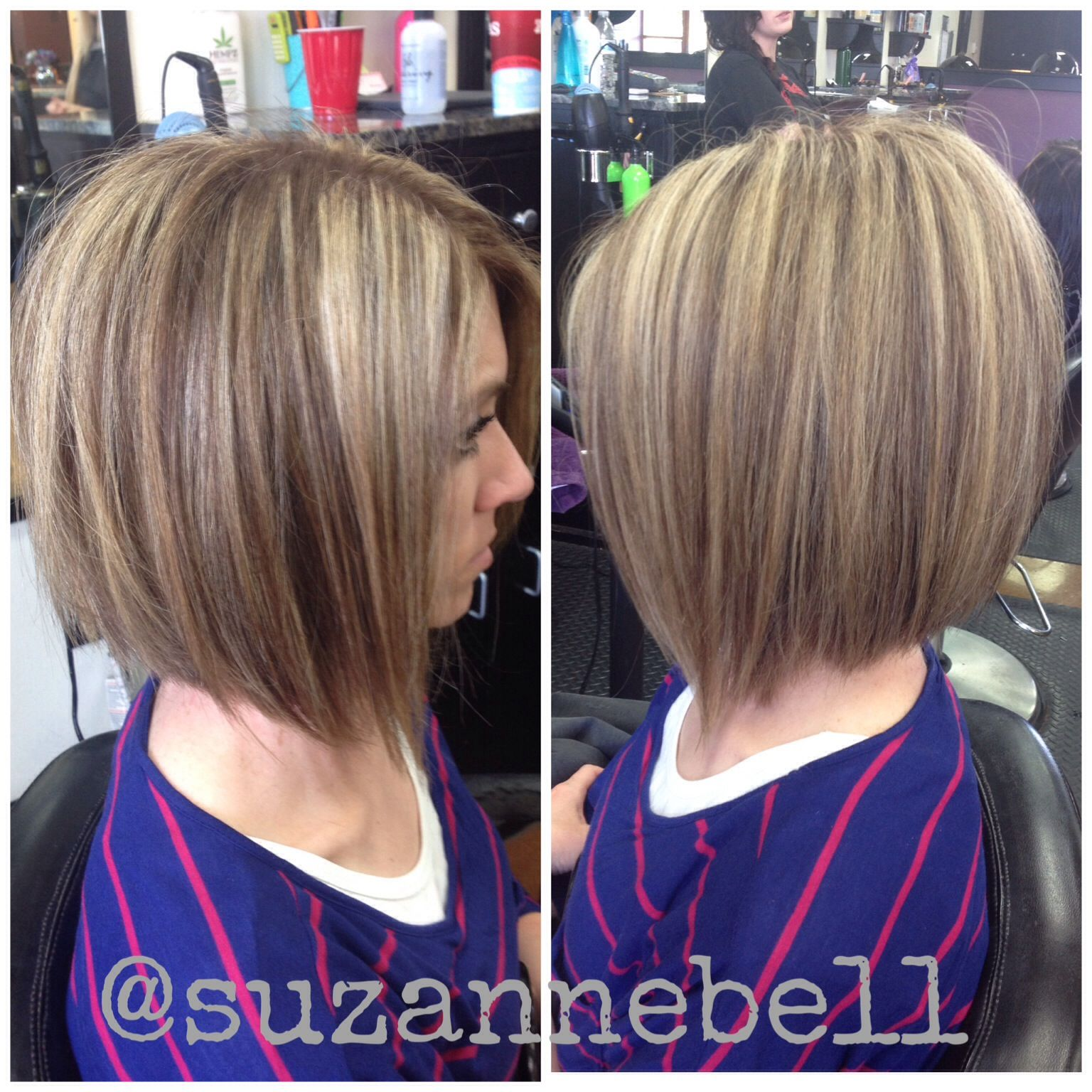 medium layered stacked a line bob Beauty Stuff