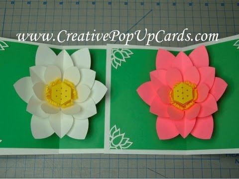 Mother S Day Lotus Flower Pop Up Card Tutorial Pop Up Flower Cards Pop Up Cards Card Tutorial