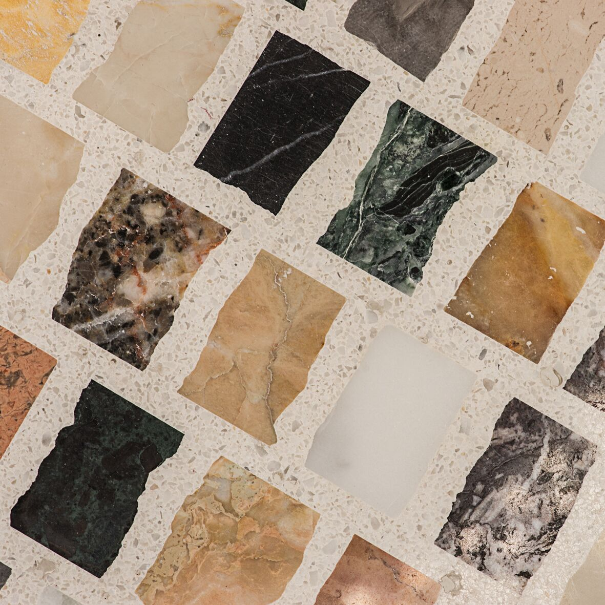 Terrazzo Multicolor Light Background Kaleidoscope Of Marble