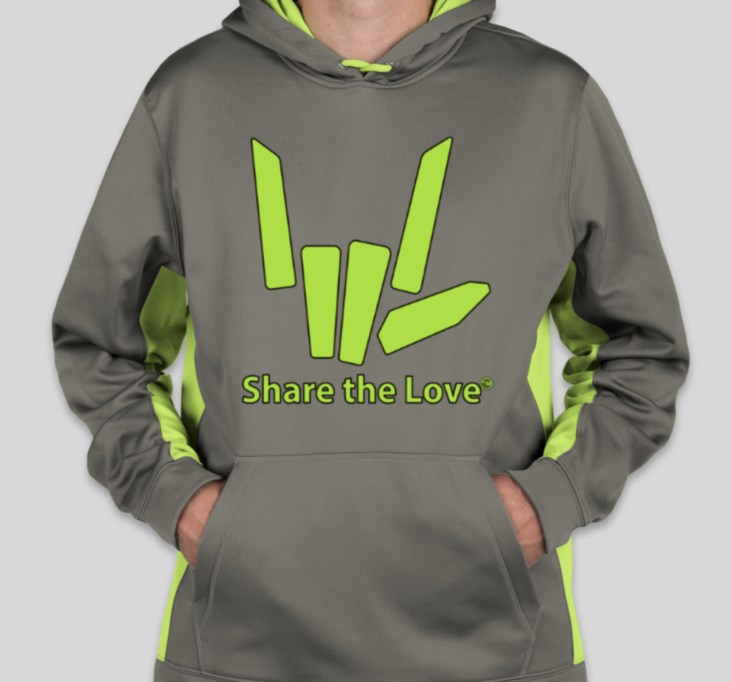 c17d1267e Youth Performance Share the Love Hoodie (LIME) - LTD EDITION | Emma ...