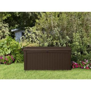 Brown Rattan Outdoor Patio Storage Container Box.