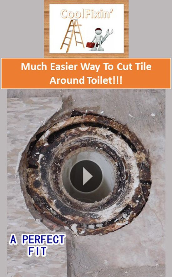 This Video Will Teach You How To Cut Floor Tile Around The Toilet