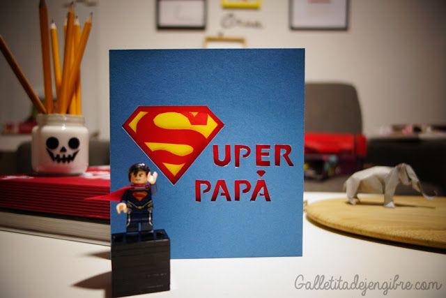 Tarjeta SUPER PAPÁ   Galletita de Jengibre
