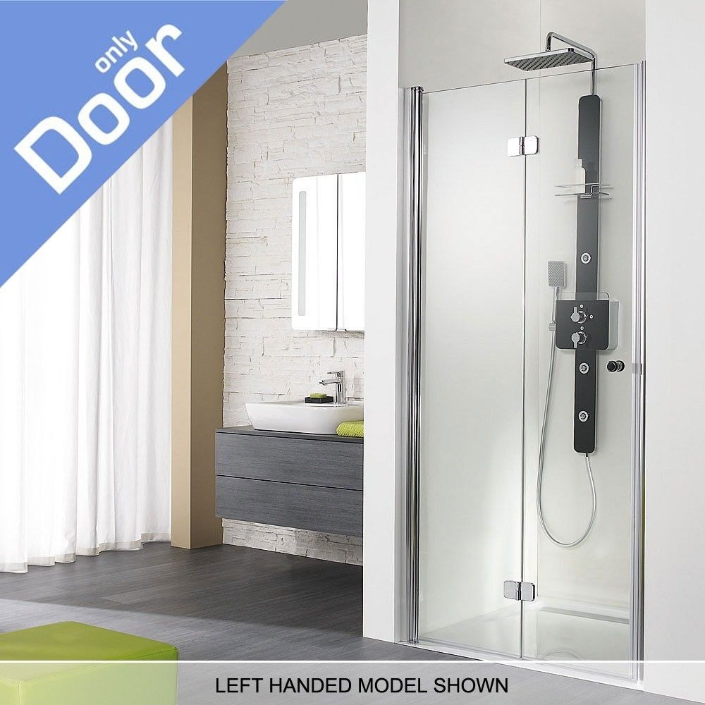 Bi fold shower door seal shower doors are very crucial because hsk exklusiv right handed semi frameless bifold shower door wide polished chrome with easy clean glass planetlyrics Image collections