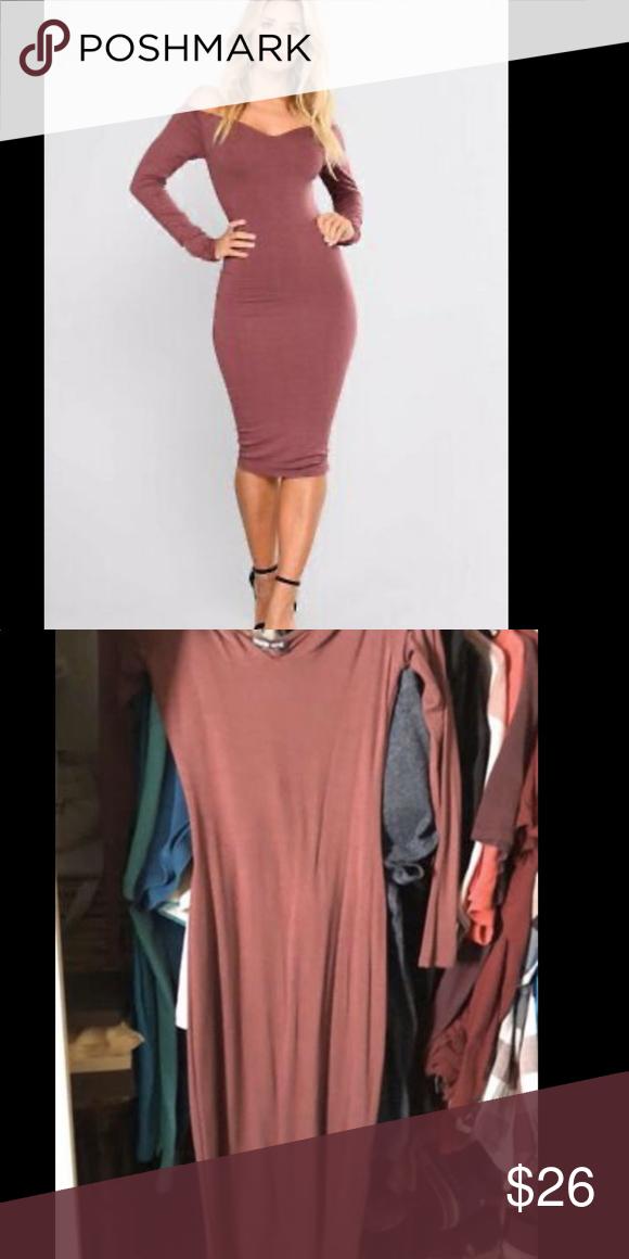 Fashion Nova Off Shoulder Midi Dress