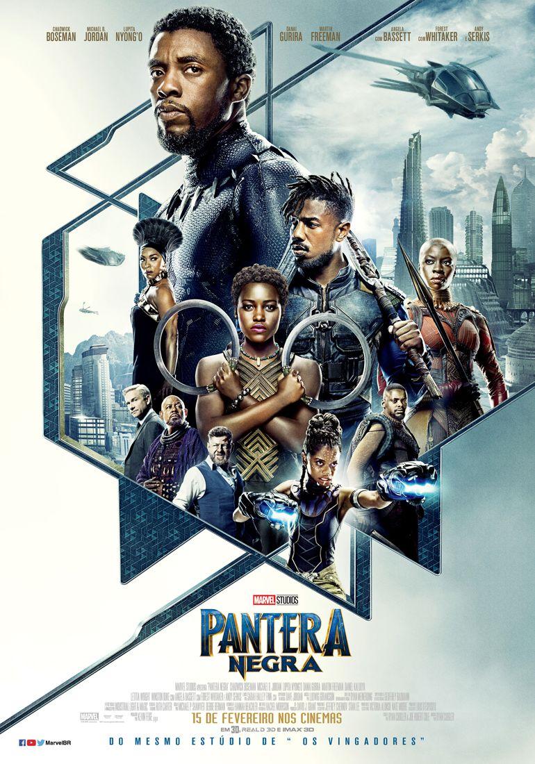Veja O Cartaz Nacional De Pantera Negra Filme Pantera Negra Black Panther Marvel Pantera Negra