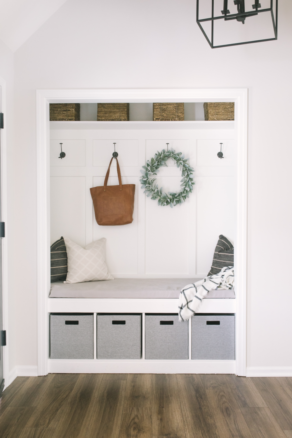 Closet Mudroom DIY in 19  Mudroom closet, Home renovation