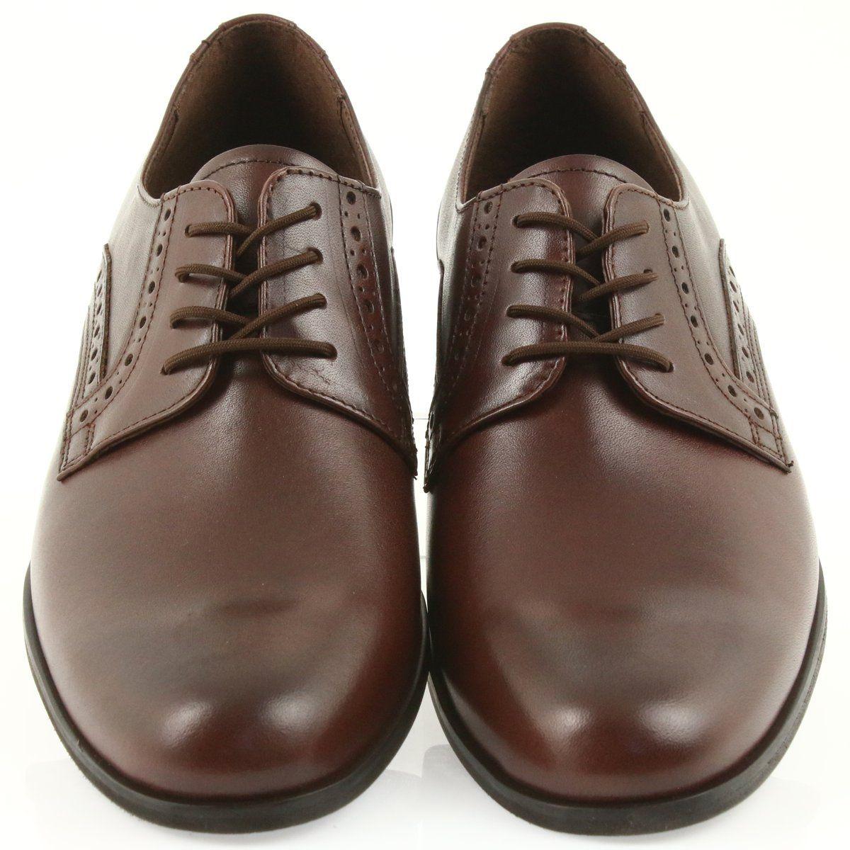 Polbuty Meskie Tur Tur Polbuty Skorzane Wiazane 388 Brazowe Dress Shoes Men Oxford Shoes Men Dress