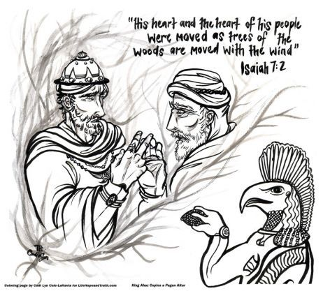 Coloring Page Added For Article King Ahaz Copies A Pagan Altar Thanks To