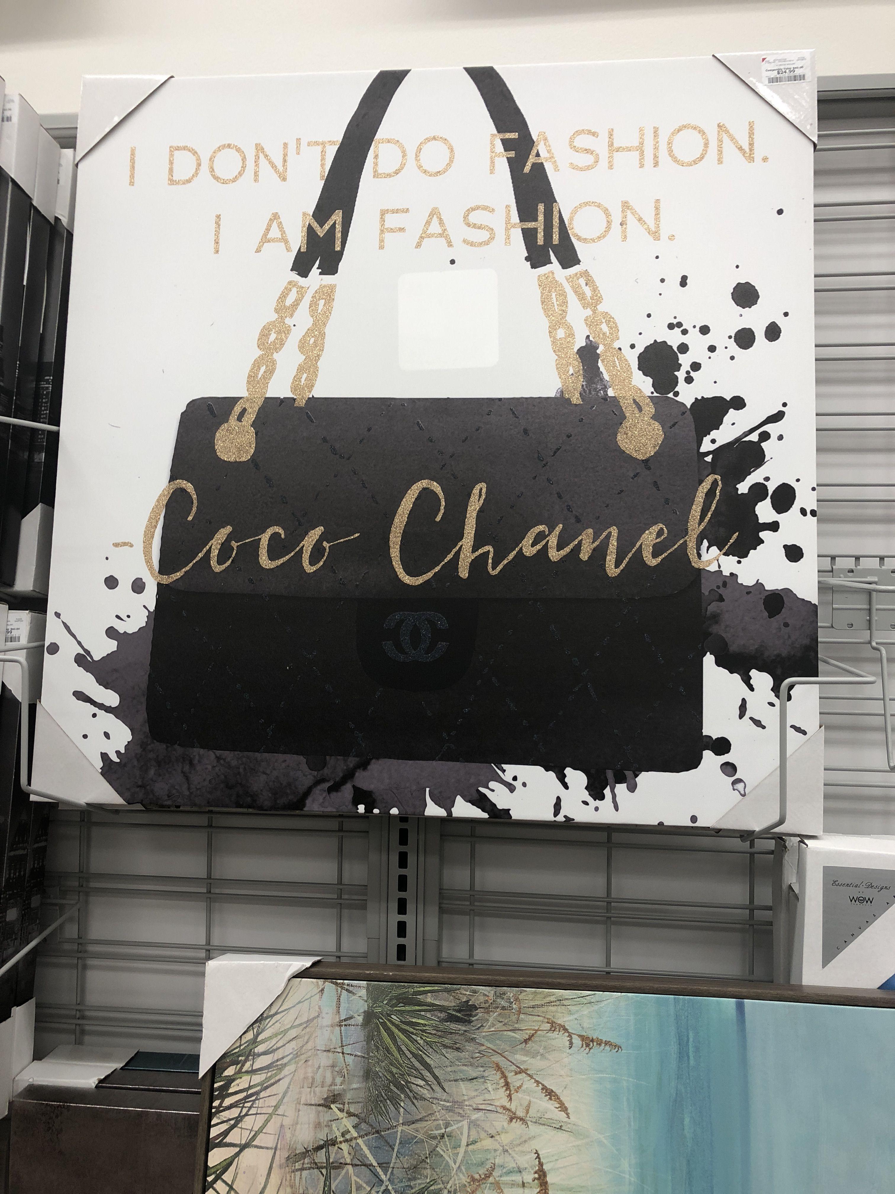 Black White Gold Canvas Burlington Coat Factory Coco Chanel Canvas