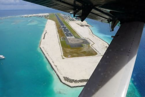The International Airport in Male, Maldives (also known as Ibrahim Nasir International Airport), has four water runways measuring 60 meters wide and 1,190, 1,100, 1,000 and 800 meters long, respectively.