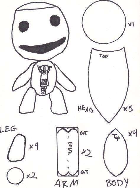 Resultado de imagen para sackperson sewing pattern | peluche ...