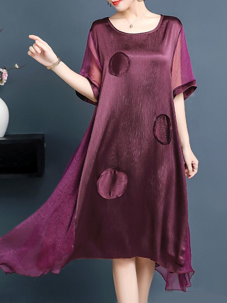 b1f319f799 #EnvyWe #BerryLook - #berrylook Round Neck Plain Maxi Dress - EnvyWe.com