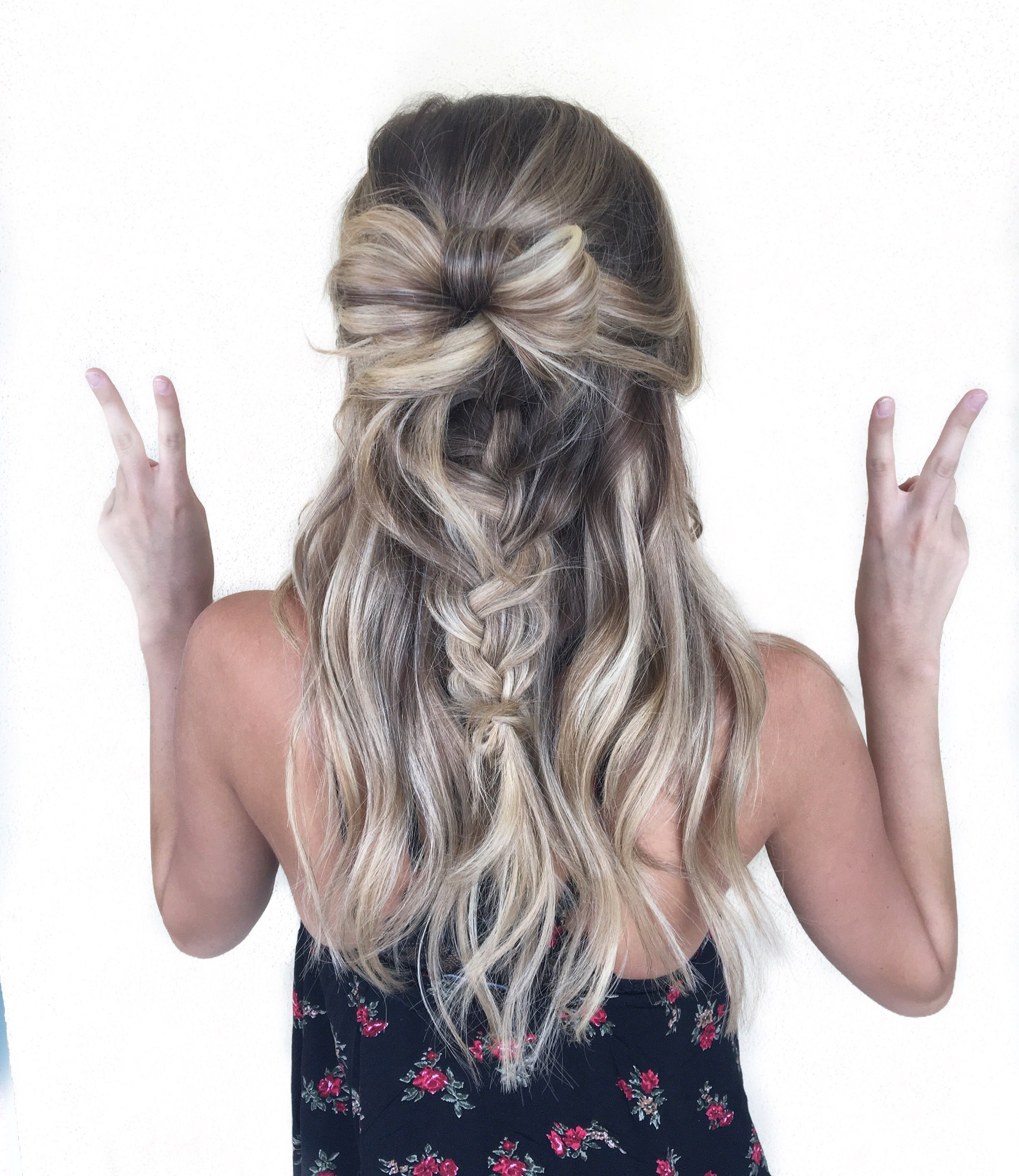 Cutest hairstyle braid ever bow hair by alexaa in az at habit