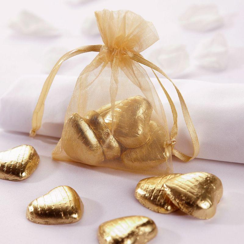 Gold Organza Favour Bag (7 X 10cm)