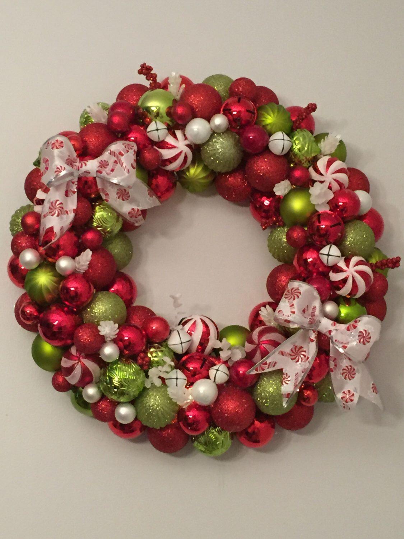 Grinch Colors Ornament Wreath Etsy Ornament Wreath Ornaments Wreaths