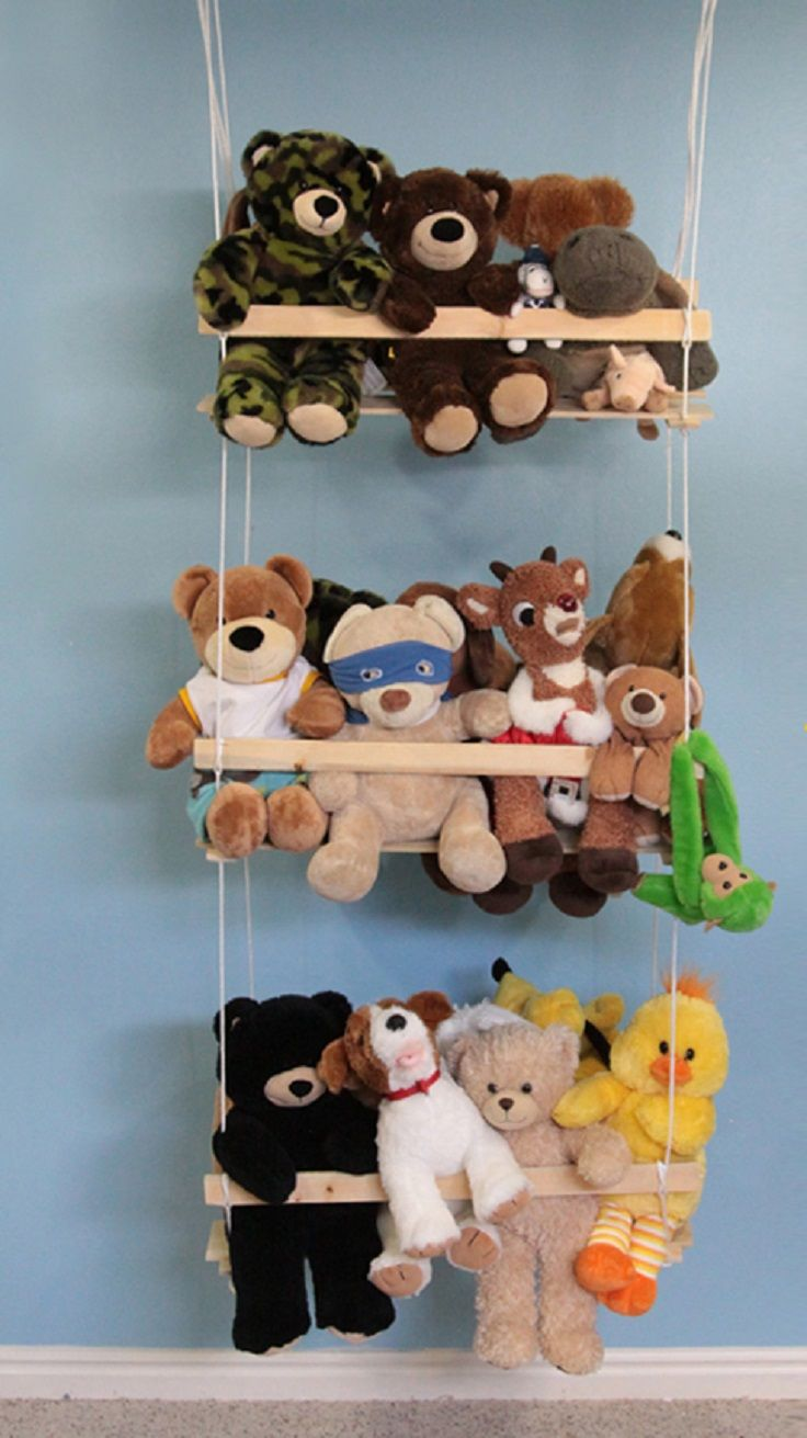 Top 10 Diy Decorating Ideas For Kids Room Storing Stuffed